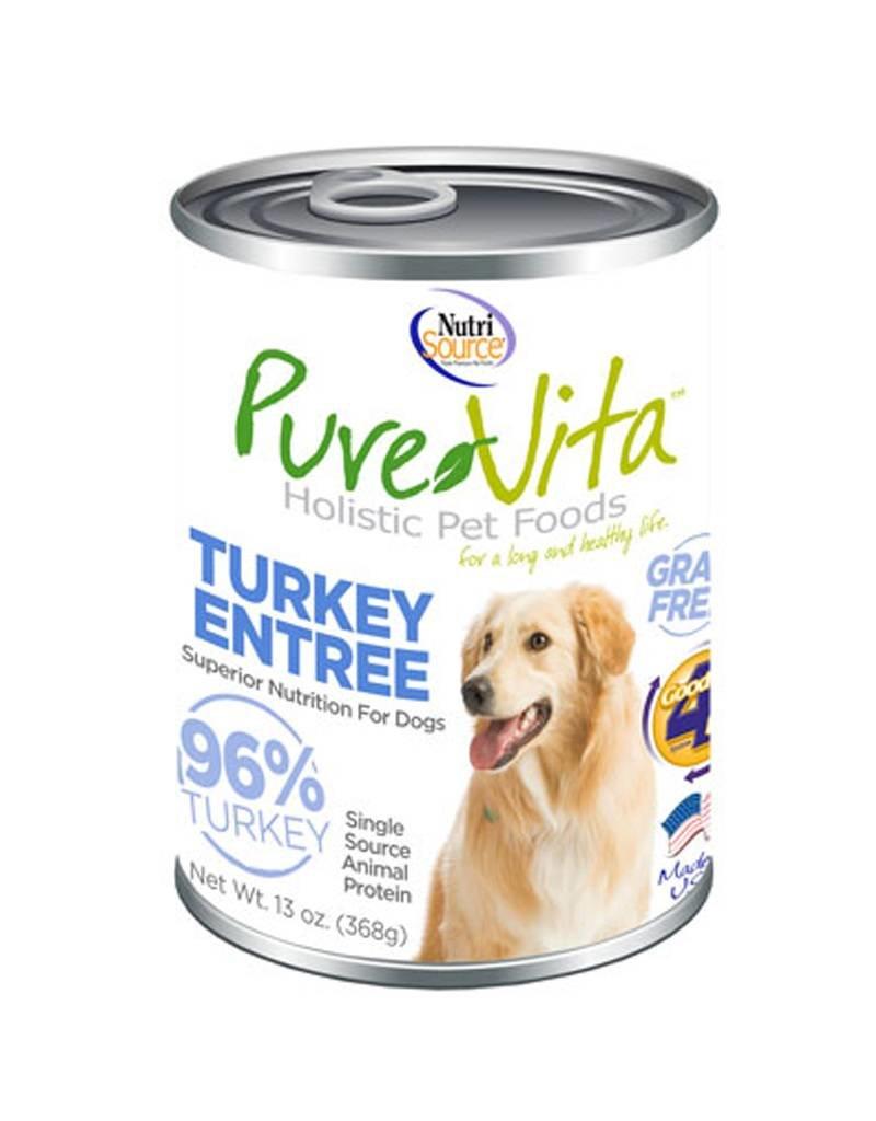PURE VITA Pure Vita 96% Turkey Entree for Dogs 12/13oz Case