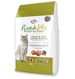 PURE VITA Pure Vita Grain Free Duck & Red Lentils Cat Food