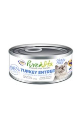 PURE VITA Pure Vita 96% Turkey Entree for Cats 12/5.5oz Case
