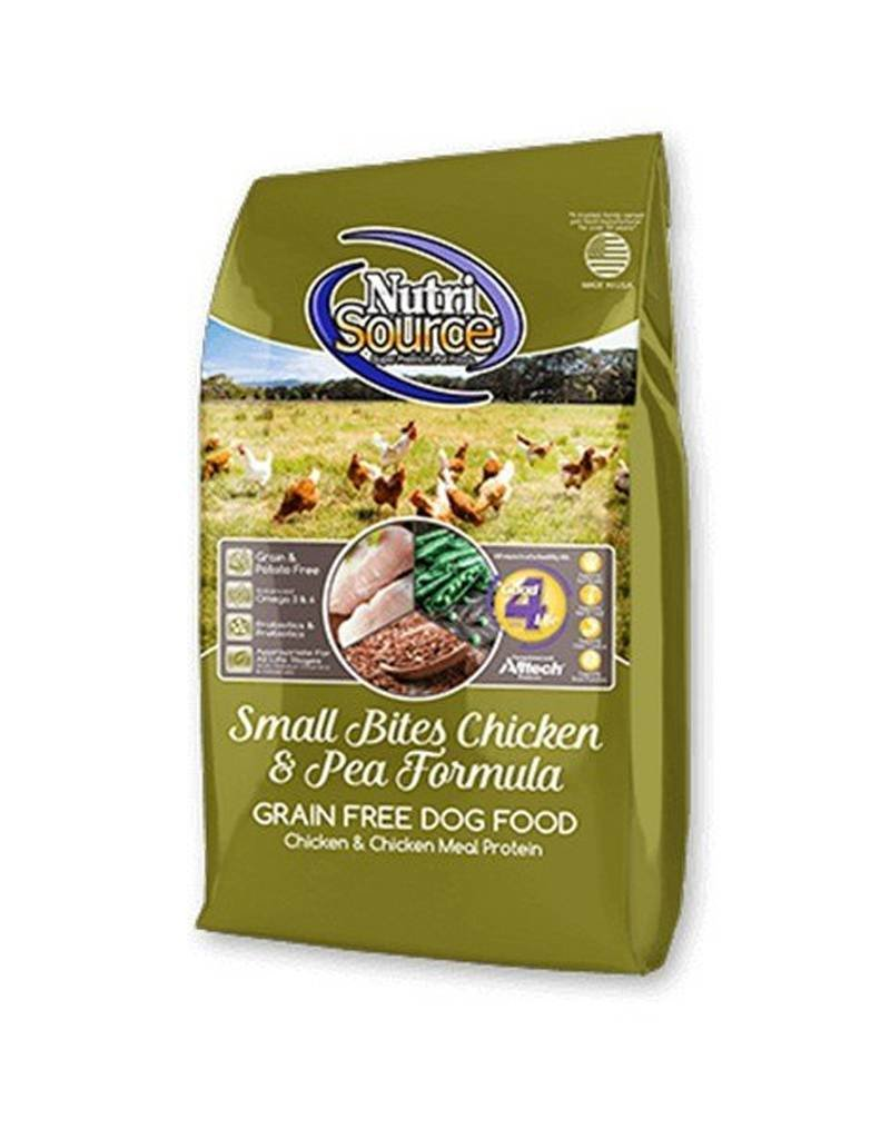 NUTRISOURCE Nutrisource Grain Free Chicken & Pea Small Bites Dog Food