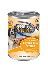 NUTRISOURCE Nutrisource Lamb & Rice Canned Dog Food 13oz Case of 12