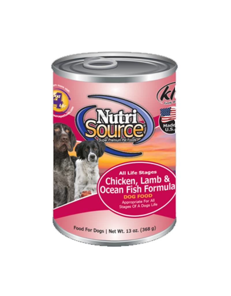 NUTRISOURCE Nutrisource Chicken, Lamb & Oceanfish Canned Dog Food