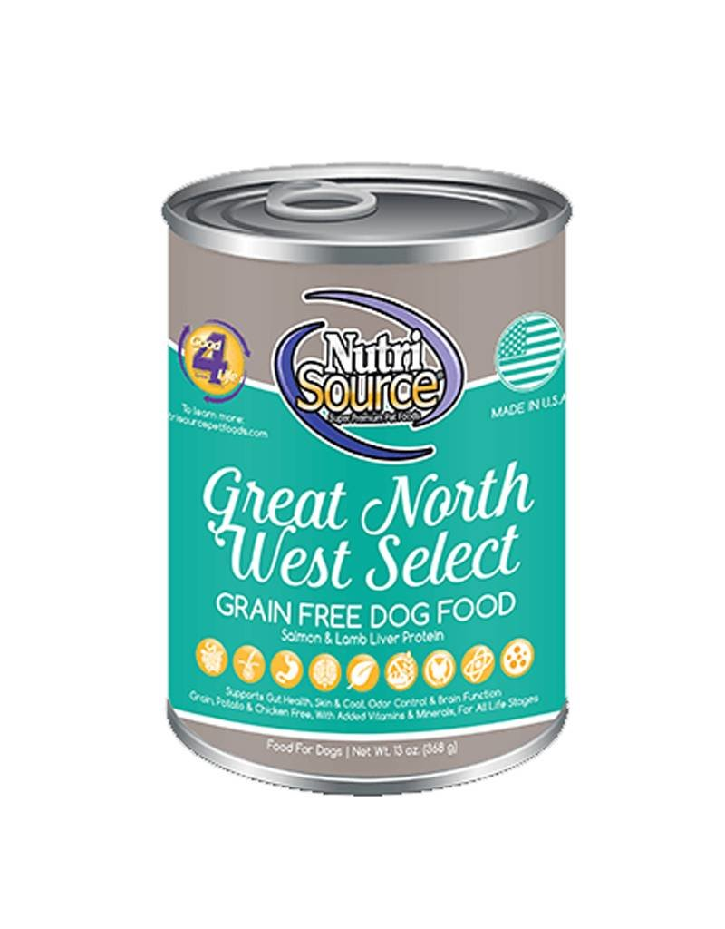 NUTRISOURCE Nutrisource Grain Free Great Northwest Select Canned Dog Food