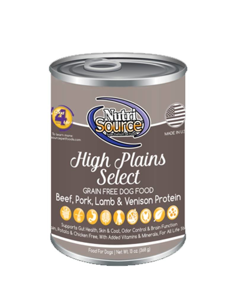 NUTRISOURCE Nutrisource Grain Free High Plains Select Canned Dog Food