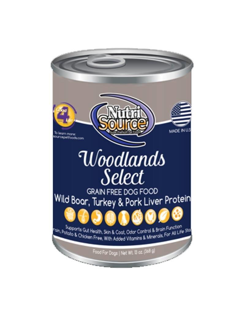 NUTRISOURCE Nutrisource Grain Free Woodlands Select Canned Dog Food 12/13oz
