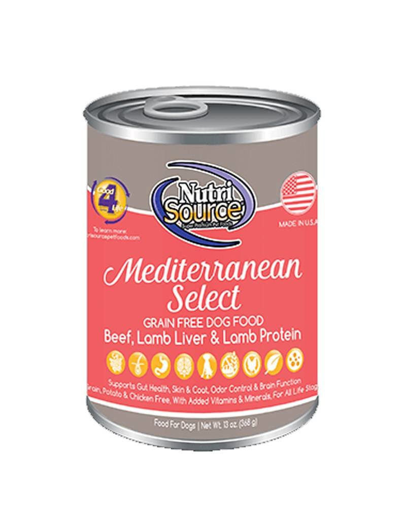 NUTRISOURCE Nutrisource Grain Free Mediterranean Select Canned Dog Food 12/13oz