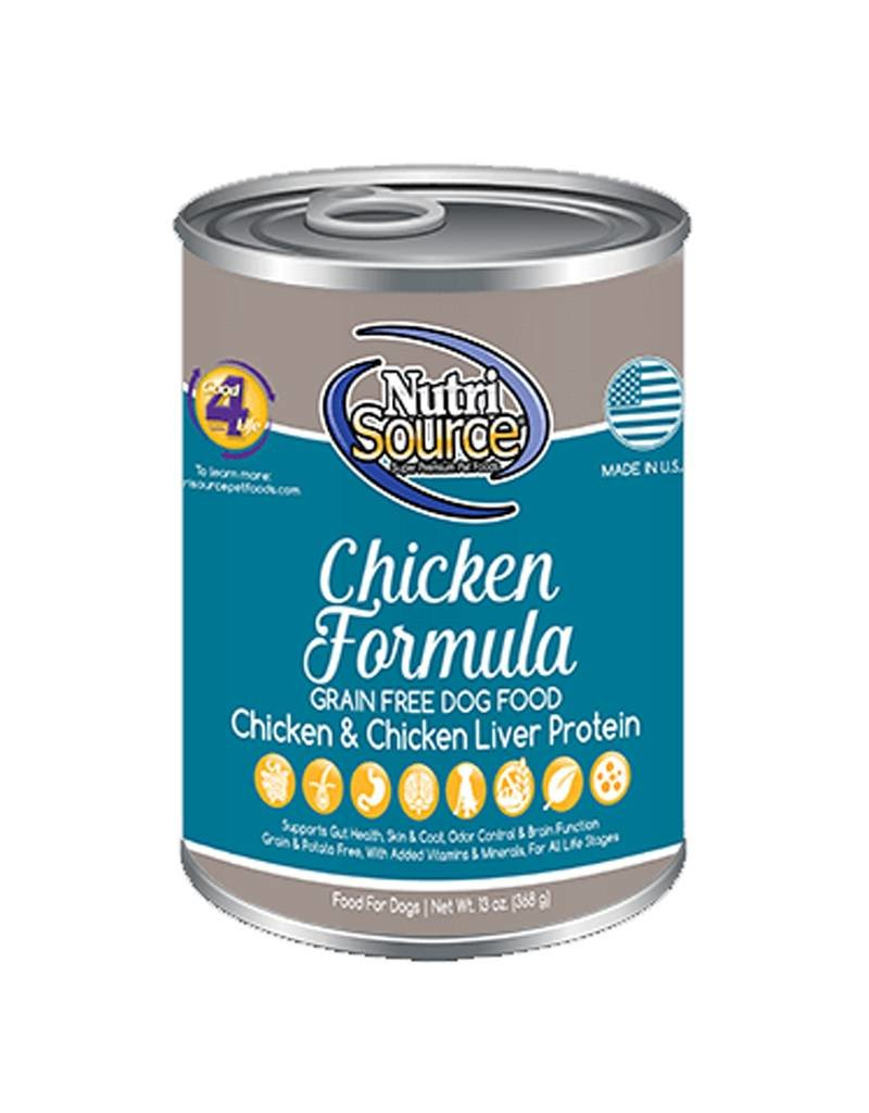 NUTRISOURCE Nutrisource Grain Free Chicken Canned Dog Food 12/13oz