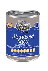 NUTRISOURCE Nutrisource Grain Free Heartland Select Canned Dog Food 12/13oz