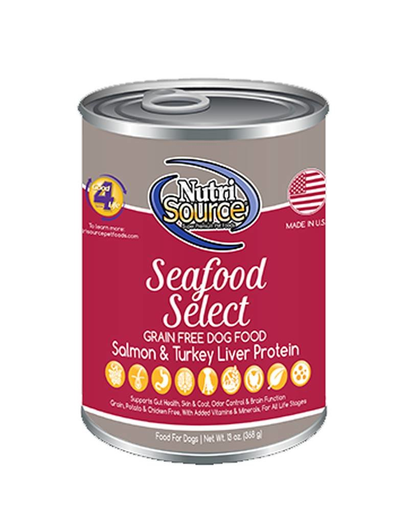 NUTRISOURCE Nutrisource Grain Free Seafood Select Canned Dog Food 12/13oz