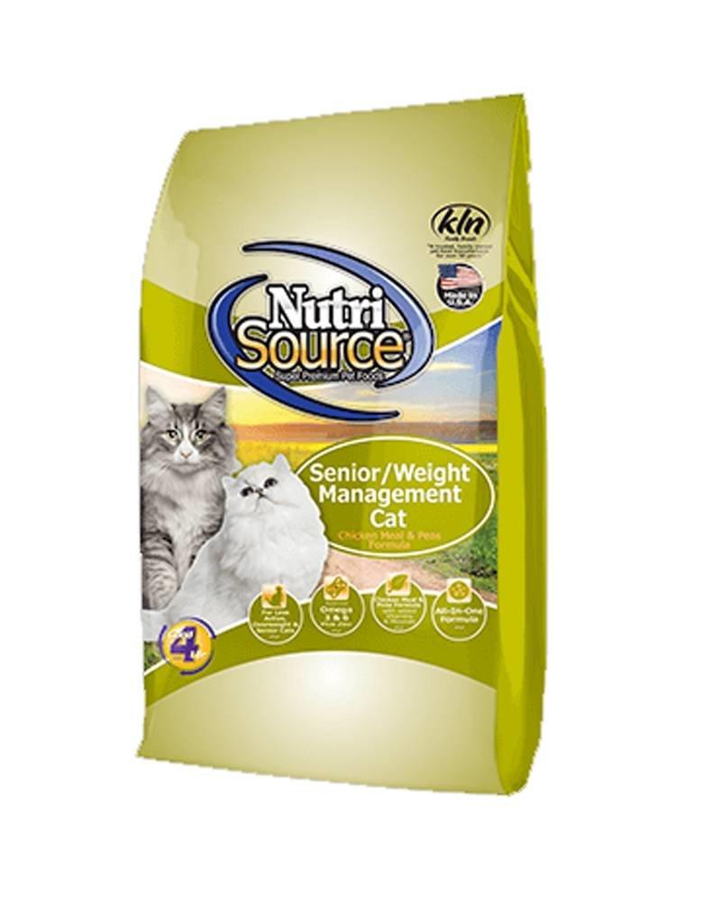 NUTRISOURCE Nutrisource Senior & Weight Management Cat Food
