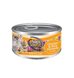 NUTRISOURCE Nutrisource Chicken & Rice Canned Cat Food