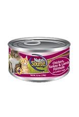 NUTRISOURCE Nutrisource Chicken, Turkey & Lamb Canned Cat Food 12/5oz
