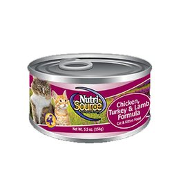 NUTRISOURCE Nutrisource Chicken, Turkey & Lamb Canned Cat Food