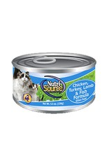 NUTRISOURCE Nutrisource Chicken, Turkey, Lamb & Fish Canned Cat Food 12/5oz