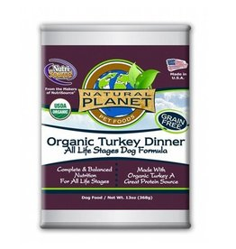 NATURAL PLANET Natural Planet Organic Turkey Dinner for Dogs