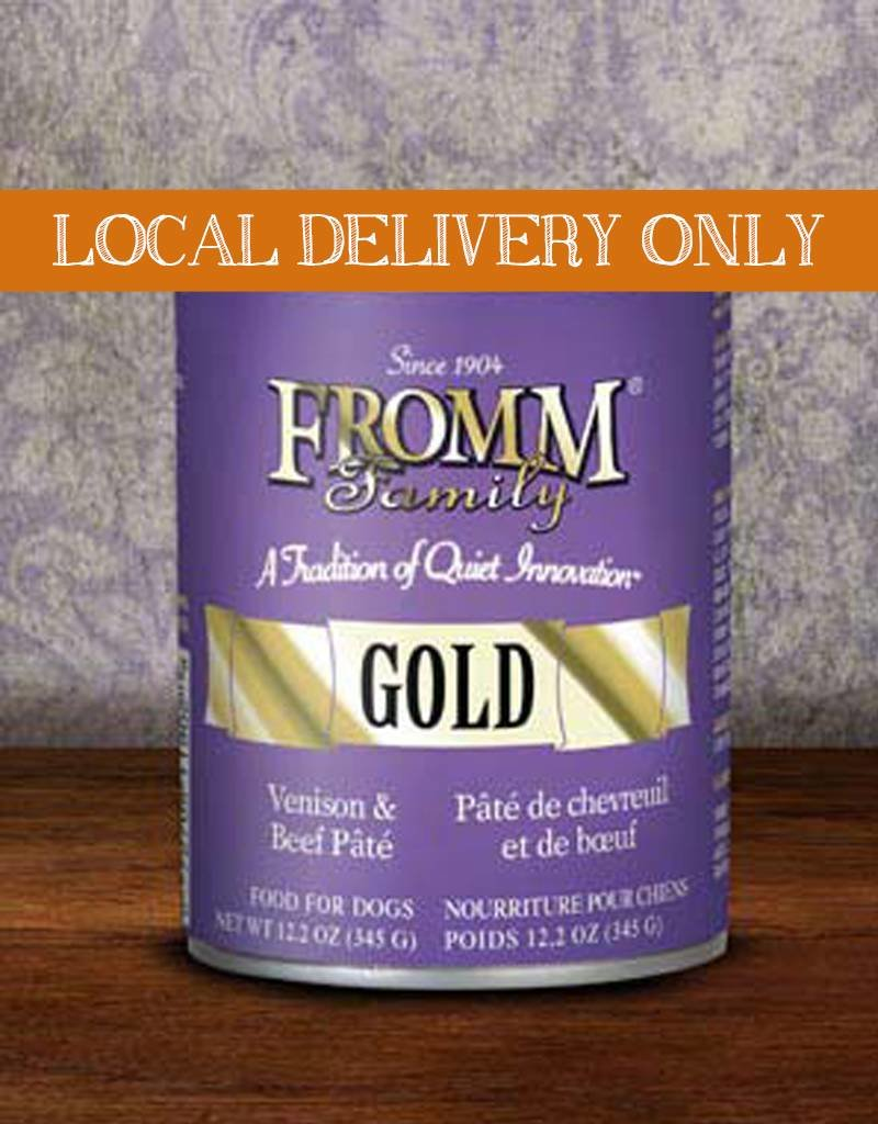 FROMM Fromm Gold Pate Venison & Beef 12.2oz Canned Dog Food (Case of 12)