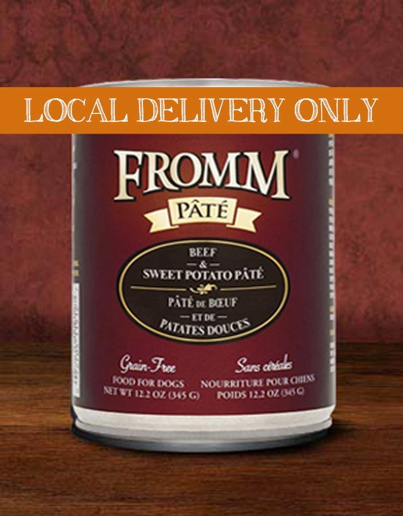 FROMM Fromm Pate Beef & Sweet Potato 12.2oz Canned Dog Food (Case of 12)