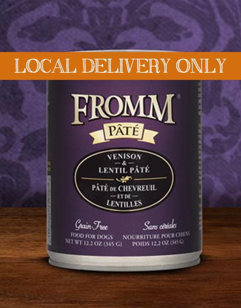 FROMM Fromm Pate Venison & Lentils 12.2oz Canned Dog Food (Case of 12)
