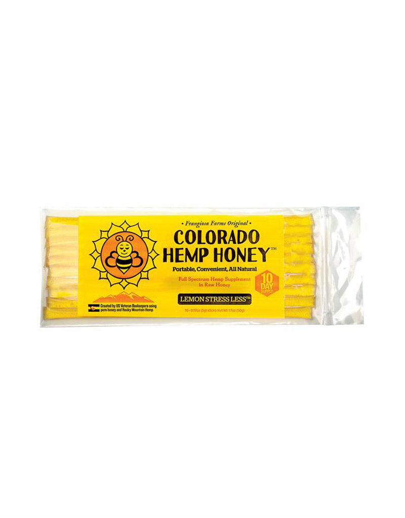 COLORADO HEMP HONEY Colorado Hemp Honey Lemon Stress Less Sticks 10pk