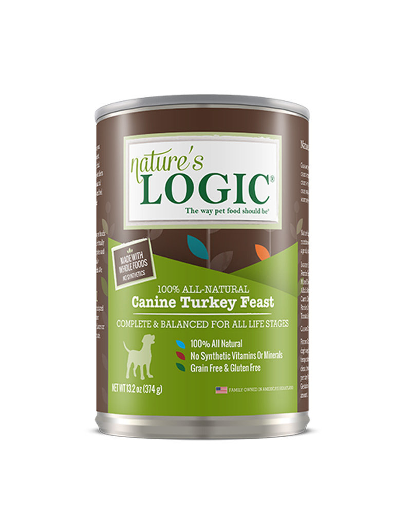 NATURE'S LOGIC Nature's Logic Turkey Feast Canned Dog Food 13.2oz Case of 12