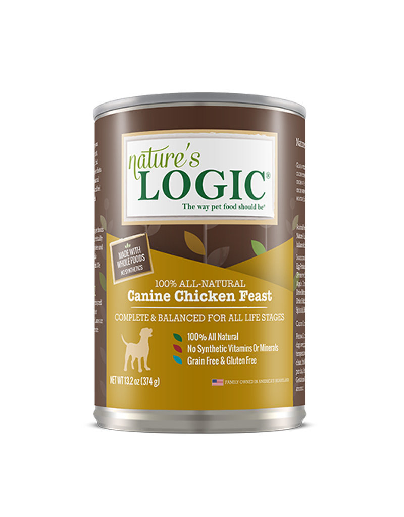 NATURE'S LOGIC Nature's Logic Chicken Feast Canned Dog Food 13.2oz Case of 12