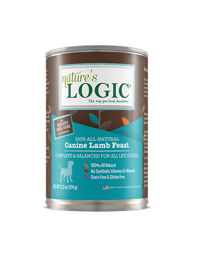 NATURE'S LOGIC Nature's Logic Lamb Feast Canned Dog Food 13.2oz Case of 12