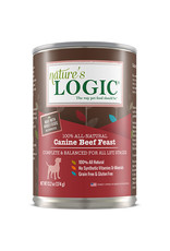 NATURE'S LOGIC Nature's Logic Beef Feast Canned Dog Food 13.2oz Case of 12