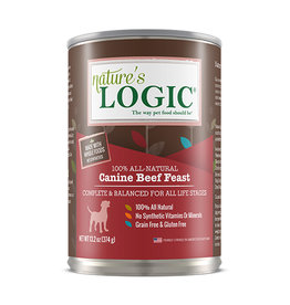 NATURE'S LOGIC Nature's Logic Beef Feast Canned Dog Food 13.2oz