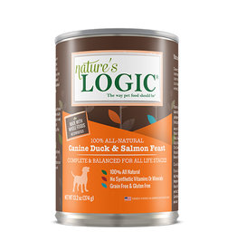 NATURE'S LOGIC Nature's Logic Duck & Salmon Feast Canned Dog Food 13.2oz