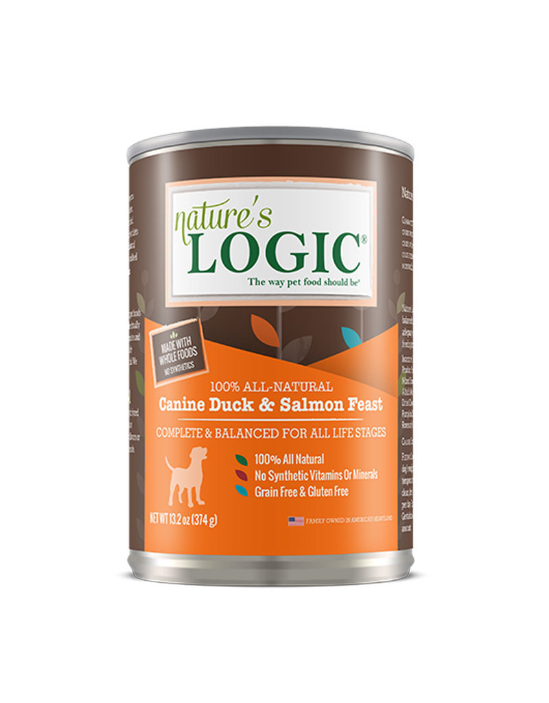 NATURE'S LOGIC Nature's Logic Duck & Salmon Feast Canned Dog Food 13.2oz Case of 12