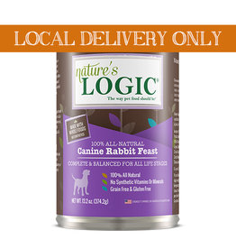 NATURE'S LOGIC Nature's Logic Rabbit Feast Canned Dog Food 13.2oz