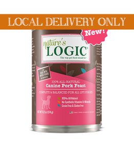 NATURE'S LOGIC Nature's Logic Pork Feast Canned Dog Food