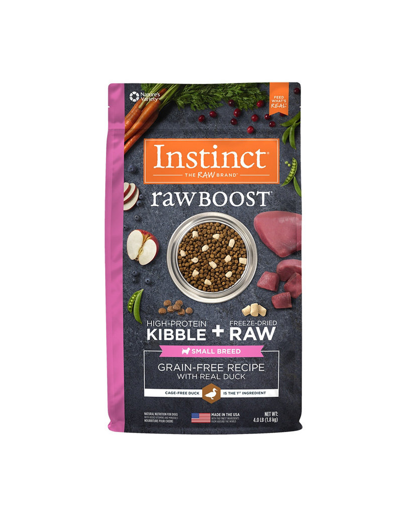 NATURES VARIETY Instinct Raw Boost Small Breed Duck Dog Food 4lb