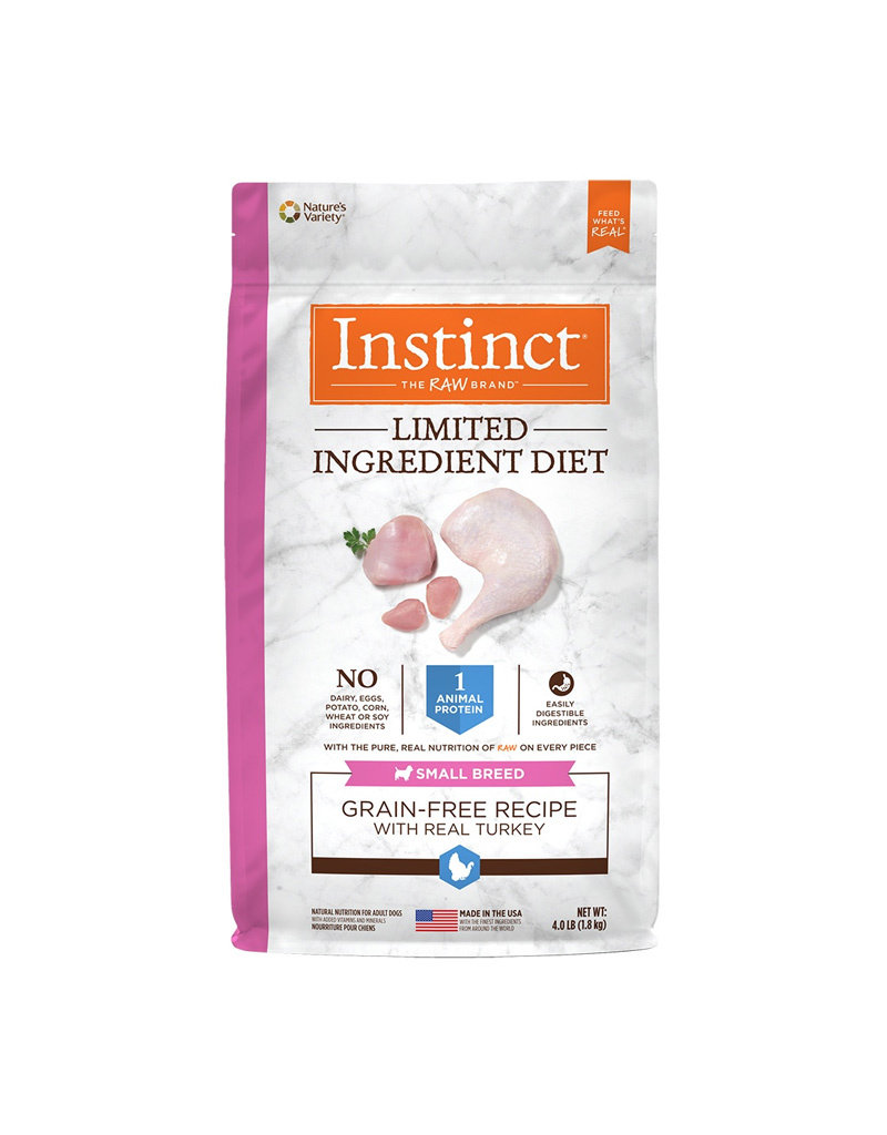 NATURES VARIETY Instinct LID Small Breed Turkey Dog Food 4lb