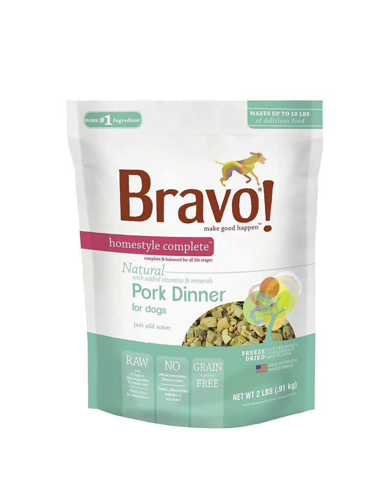 BRAVO Bravo Freeze Dried Pork Dinner for Dogs 6lb