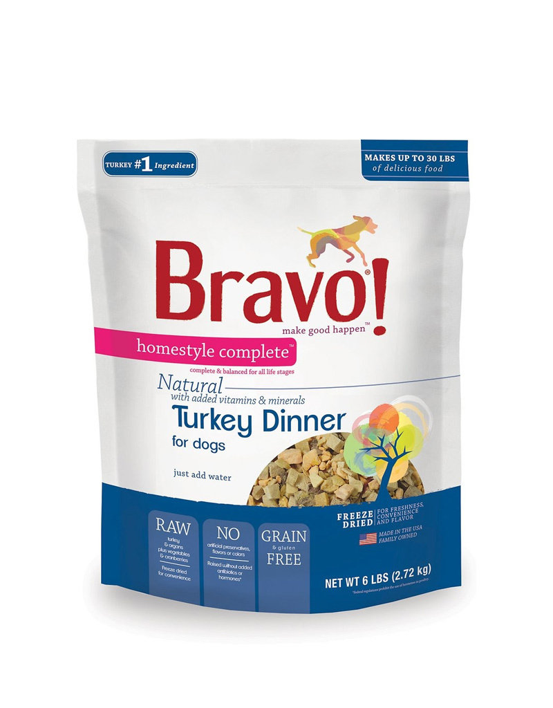 Bravo Freeze Dried Turkey Dinner for Dogs 6lb