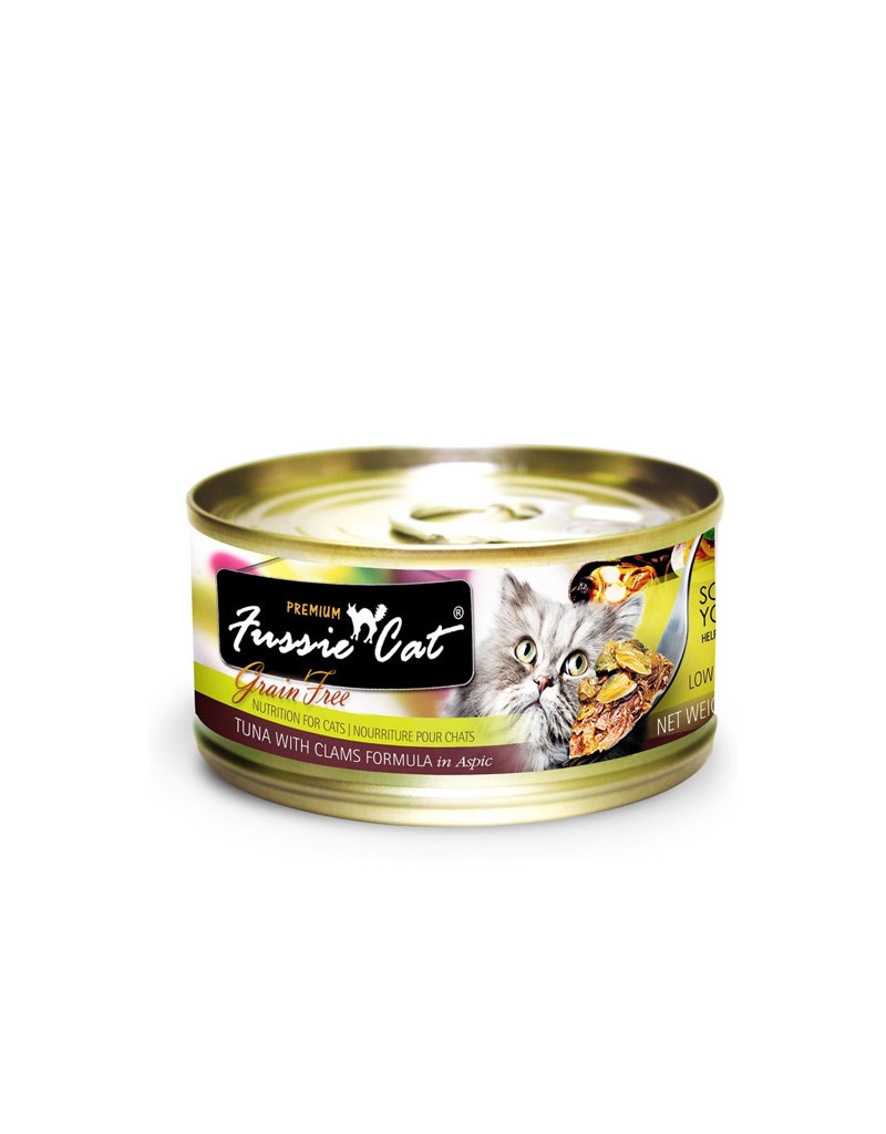 FUSSIE CAT Fussie Cat Premium Tuna & Clams  in Aspic 2.82oz (Case of 24 Cans)