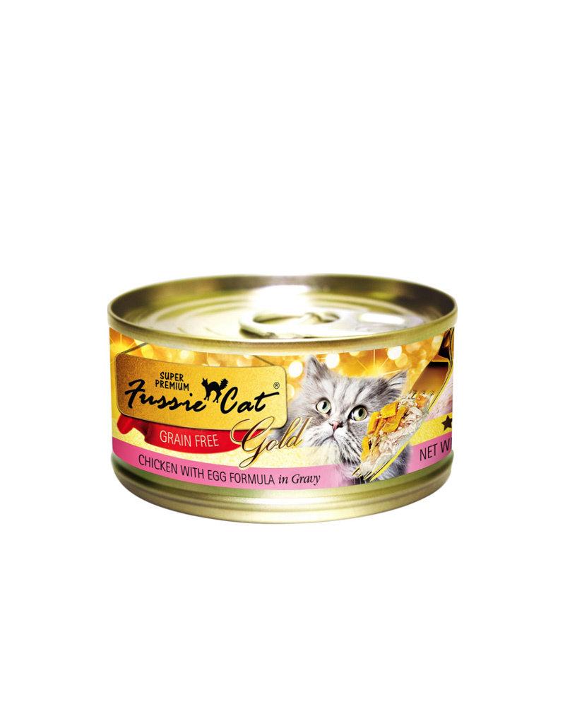 Fussie Cat Gold Chicken & Egg in Gravy 2.82oz (Case of 24 Cans)