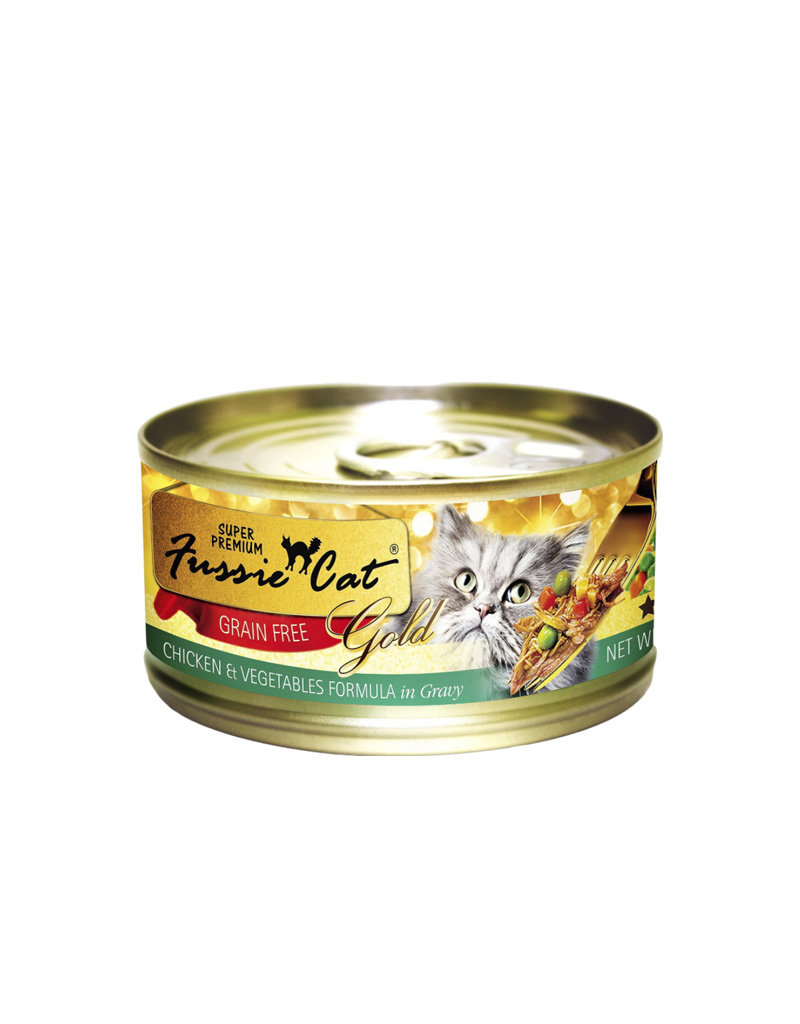 FUSSIE CAT Fussie Cat Gold Chicken & Vegetables in Gravy 2.82oz (Case of 24 Cans)
