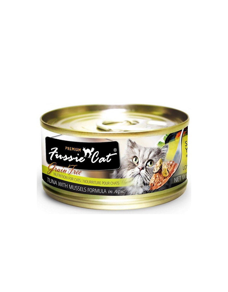 FUSSIE CAT Fussie Cat Premium Tuna & Mussels in Aspic 2.82oz (Case of 24 Cans)