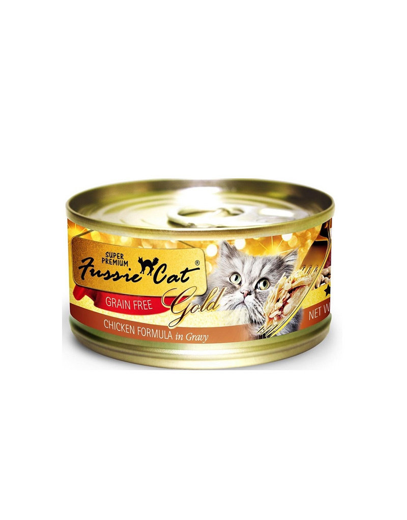 Fussie Cat Gold Chicken & Gravy 2.82oz (Case of 24 Cans)