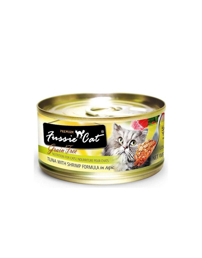 FUSSIE CAT Fussie Cat Premium Tuna & Shrimp in Aspic 2.82oz Cat Food (Case of 24)