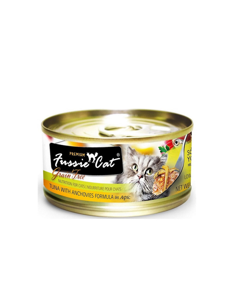 Fussie Cat Premium Tuna & Anchovies in Aspic 2.82oz  (Case of 24 Cans)