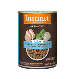 NATURES VARIETY Instinct Stews Turkey & Cod Cans for Dogs 12.7oz