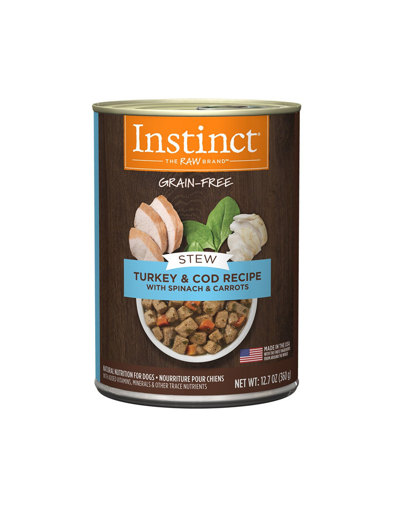 NATURES VARIETY Instinct Stews Turkey & Cod Cans for Dogs 12.7oz (Case of 6)