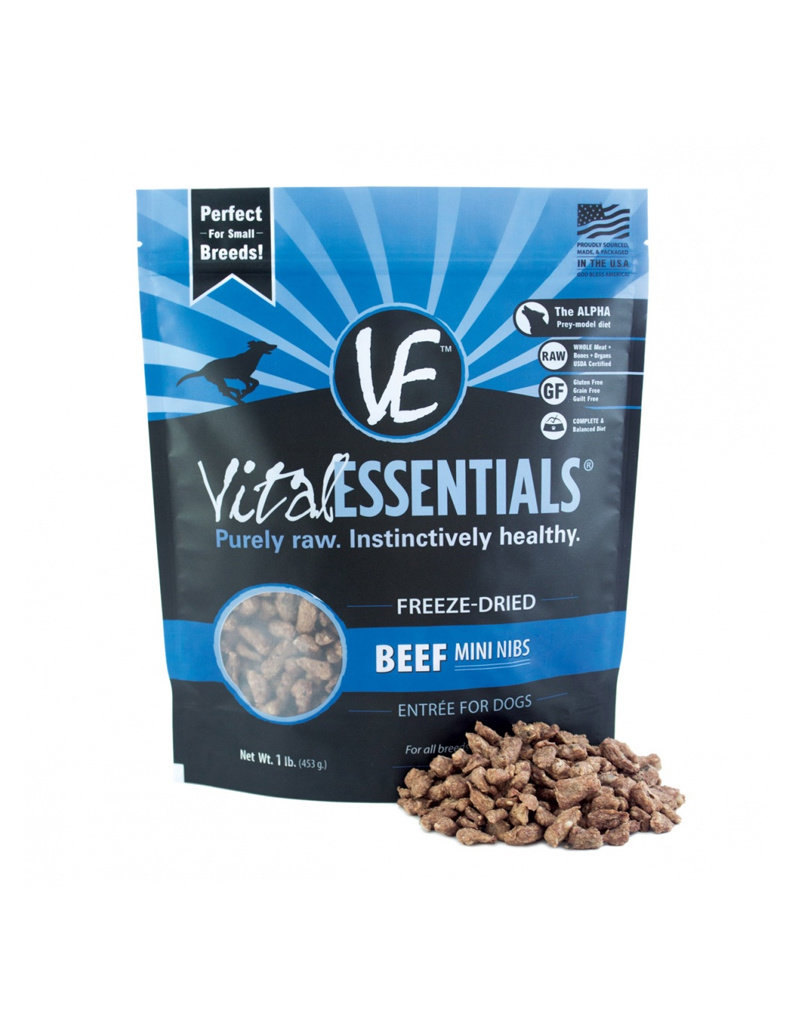 VITAL ESSENTIALS Vital Essentials Freeze Dried Beef Nibs for Dogs 1lb