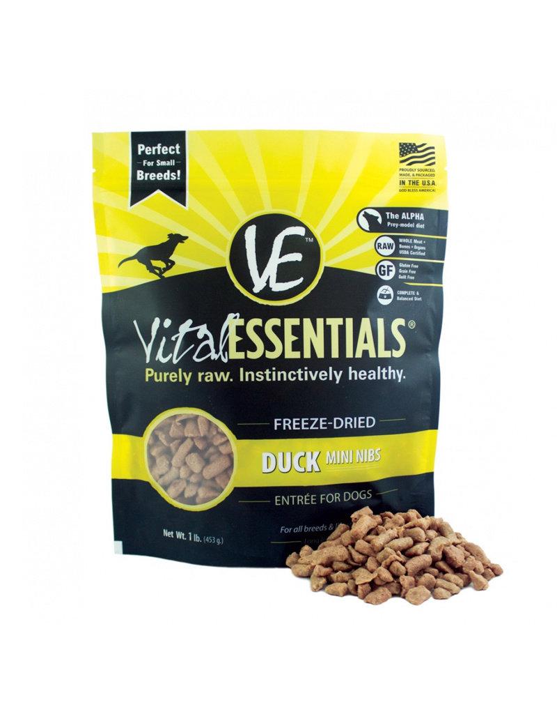 VITAL ESSENTIALS Vital Essentials Freeze Dried Duck Nibs for Dogs 1lb