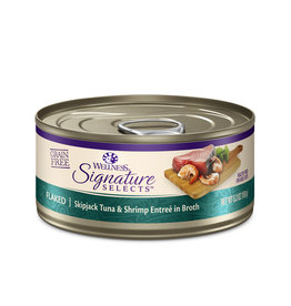 WELLNESS Wellness Signature Selects Flaked Skipjack Tuna & Shrimp Cat Food