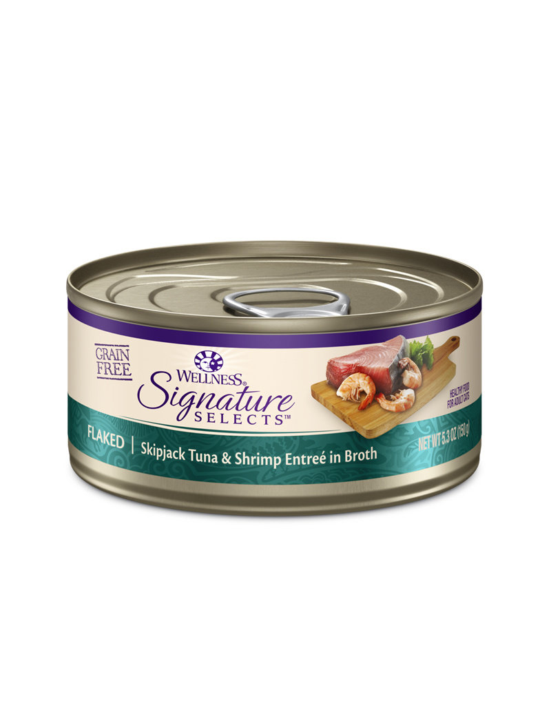 WELLNESS Wellness CORE Signature Selects Flaked Skipjack Tuna & Shrimp Canned Cat Food