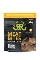 RAISED RIGHT Raised Right Meat Bites Turkey Liver Treats 5oz